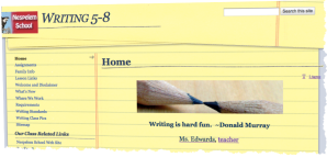 Writing Class Home Page