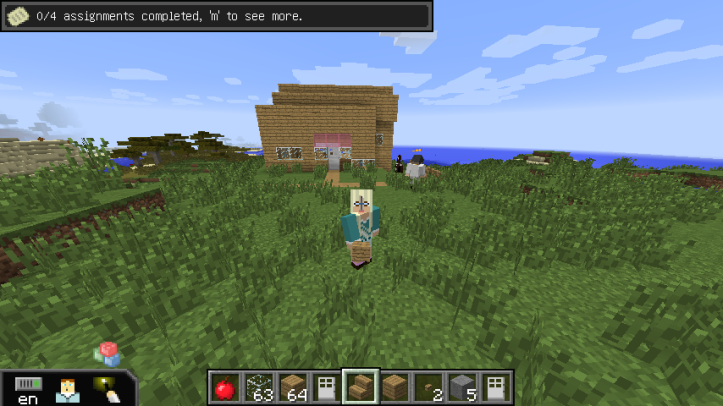 MIneCraft Selfie with House