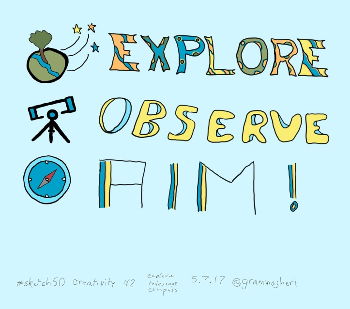 explore observe aim