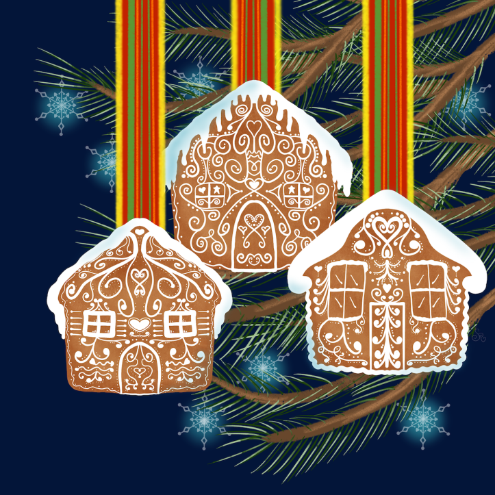 WC19 gingerbread house blue sm